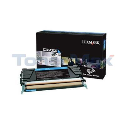 LEXMARK C746 TONER CARTRIDGE CYAN